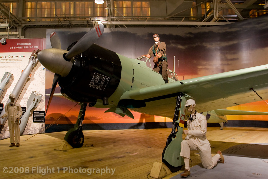 A Japanese Zero diorama inside the Pacific Aviation Museum