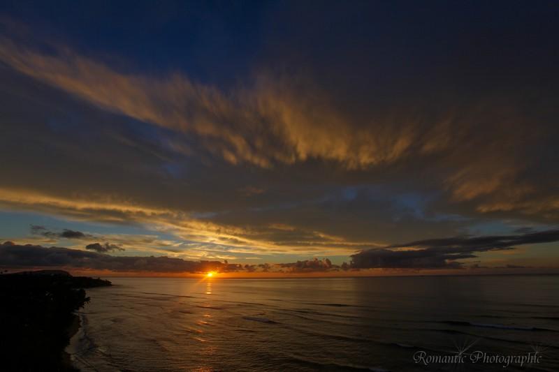 Sunrise from Diamond Head.