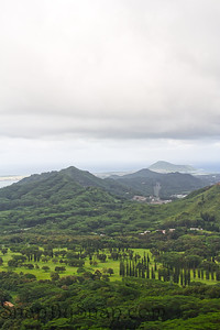 Cloudy Day from the Pali Overlook
