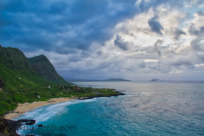 View of Makapuu Beach, Oahu, Hawaii