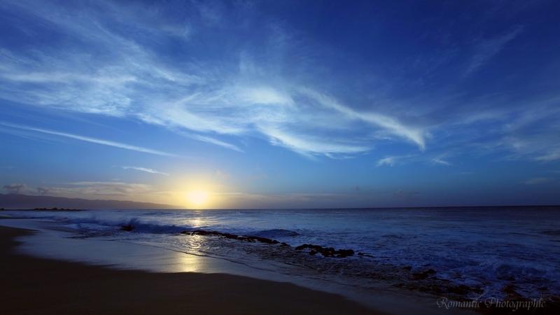 Beautiful sunset on Sunset beach.
