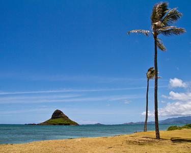 Chinaman's Hat (Mokoli'i) Island from Kualoa Park.