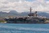 The USS Kitty Hawk in Pearl Harbor  (CVA-63)