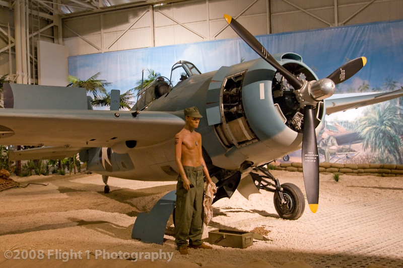 Wildcat diorama in the Pacific Aviation Museum