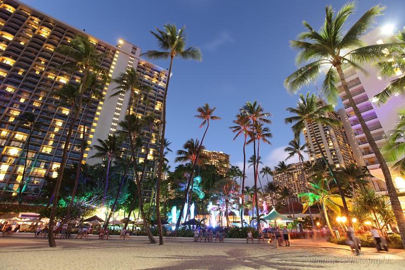 The Hilton hotel, Waikiki.