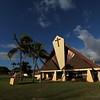 The architecture is distinctly Hawaiian.