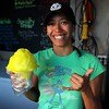 Pineapple flavored shaved ice. Yummy!