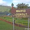 Waipio Lookout sign, Big Island