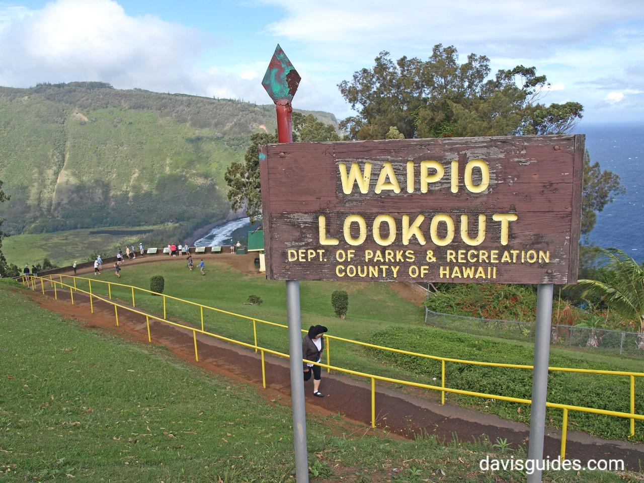 Waipio Lookout sign, Big Island