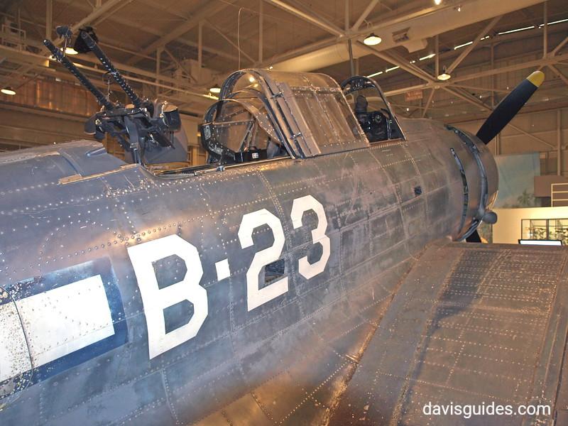 Dauntless dive-bomber, Pacific Aviation Museum, Pearl Harbor
