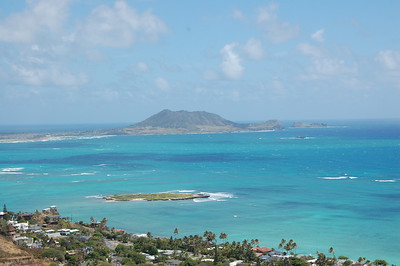 "The view from Lanikai ""heavenly sea"" looking towards Kailua Bay."