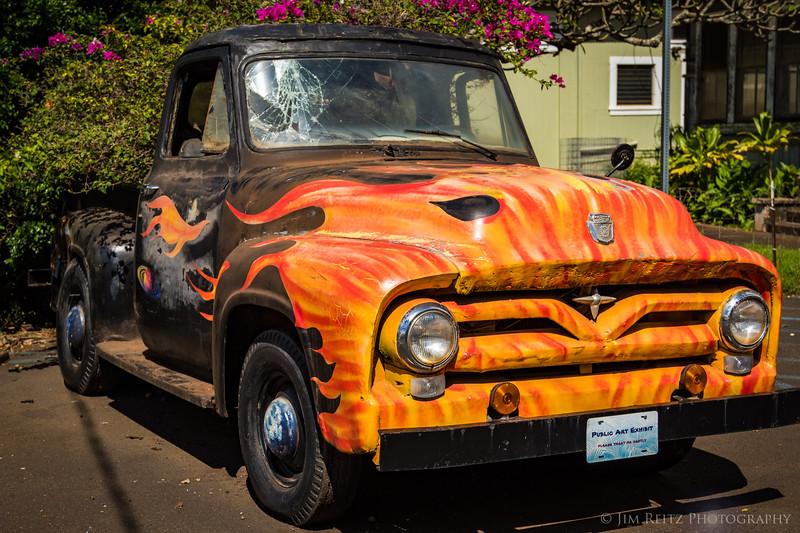 Truck in Hanapepe.
