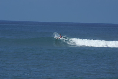 Pro surfer on the North Shore