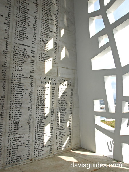 Wall of Honor, Arizona Memorial