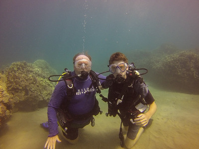 My Dad and I SCUBA diving