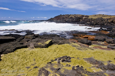 Green Sand Beach near the South Point tip of the Big Island of Hawai'i.