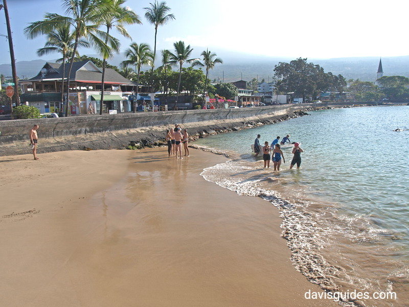 Kona beach, Ironman Triathlon starting line