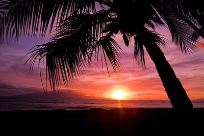Lahina sunset, Maui.
