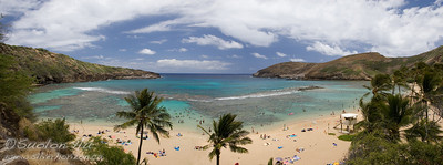 Panoramic view of Hanauma Bay, Oahu, Hawaii