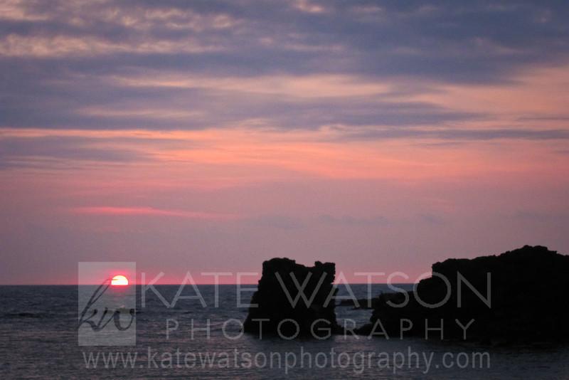 Kikaua Beach Sunset