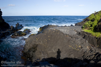 Self Portrait looking out into the ocean at 'Ohe'o Gulch Falls.