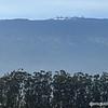 Keck Telescope and observatories on Mauna Kea summit, from Waimea