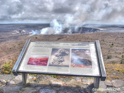 steam rising from crater, Hawaii Volcanoes National Park