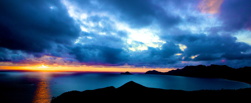 Lanikai at Sunrise, 1 Jan. 2012