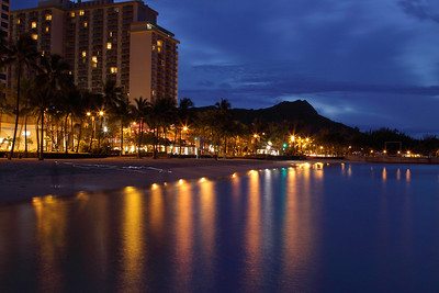Sunrise on Waikiki Beach, Honolulu.