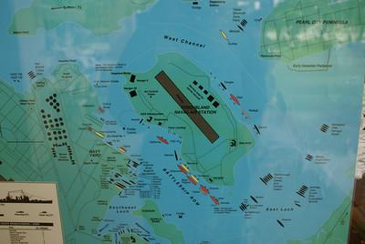 Pearl Harbor diagram of damage