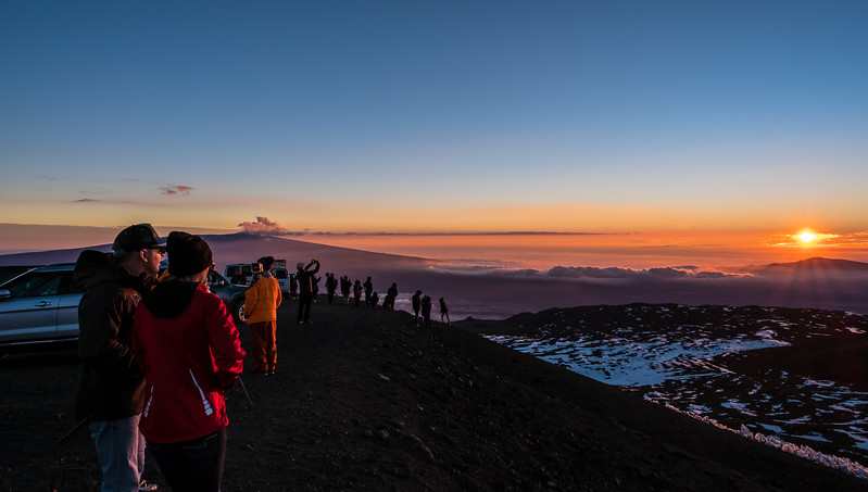 Sunset at the Summit of Mauna Kea
