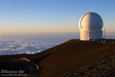 The CFH (Canada-France-Hawaii) Telescope on top of Mauna Kea.