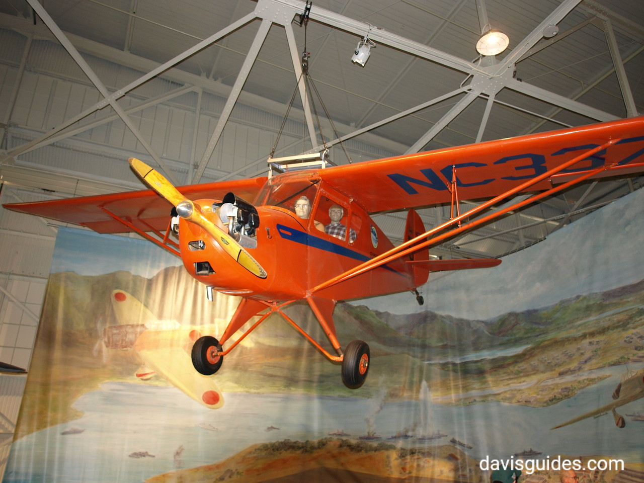 small plane that was flying above Honolulu on December 7, 1941, Pacific Aviation Museum, Pearl Harbor