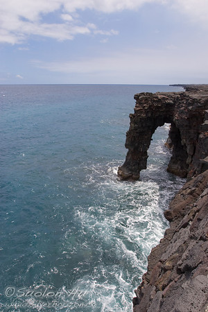 Holei Sea Arch, near the end of Chain of Craters Road.