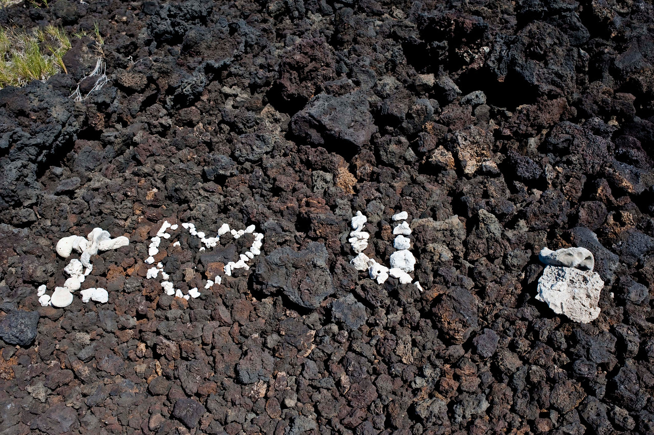 Someone wrote this in the rocks.  Wasn't me.