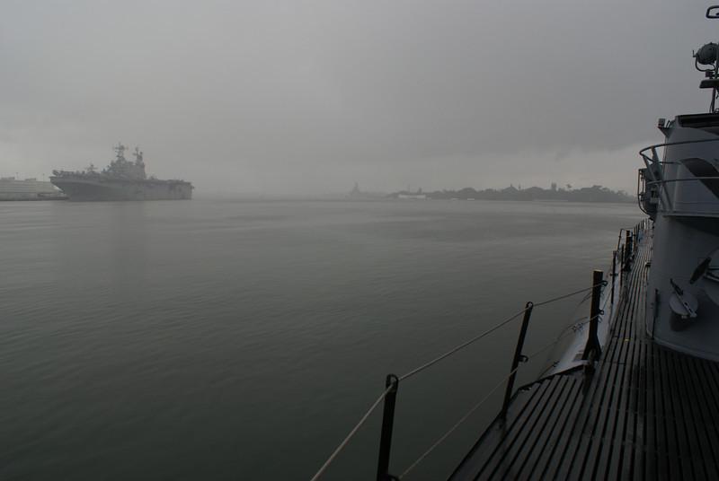 Raining in Pearl Harbor
