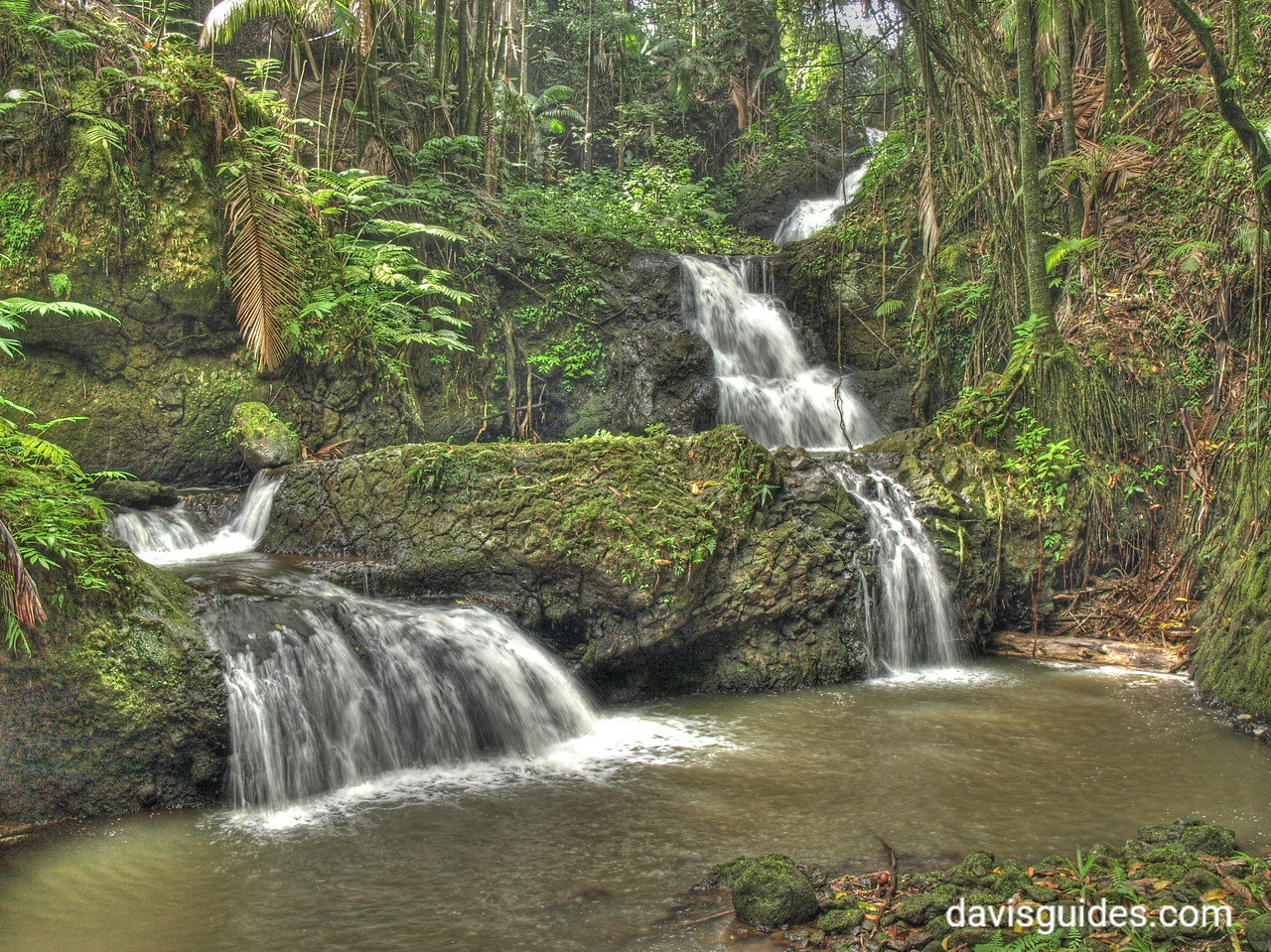 Waterfalls at the Hawaii Tropical Botanical Garden, Big Island