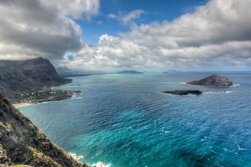 Dramatic landscape of Oahu, Hawaii