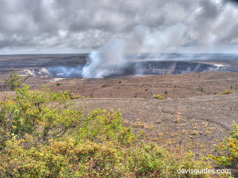 Steam rising from Kilauea Volcano, Hawaii Volcanoes National Park