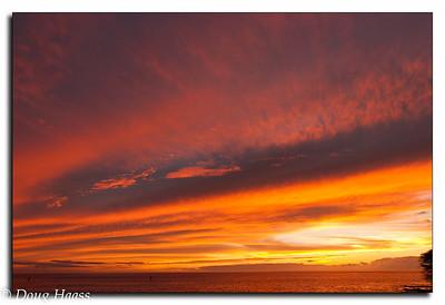 Hawaii sunset on the Big Island.