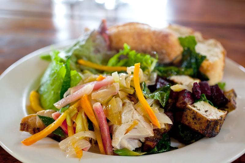 """Delicious salad at O'o Farm. <a href=""""http://www.oofarm.com"""">http://www.oofarm.com</a>"""