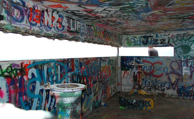 Inside the bunker -- what a view!