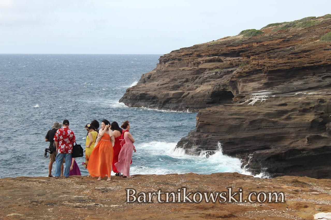 Tourists on Oahu, Hawaii