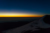 View on top of Mauna Kea at Dawn