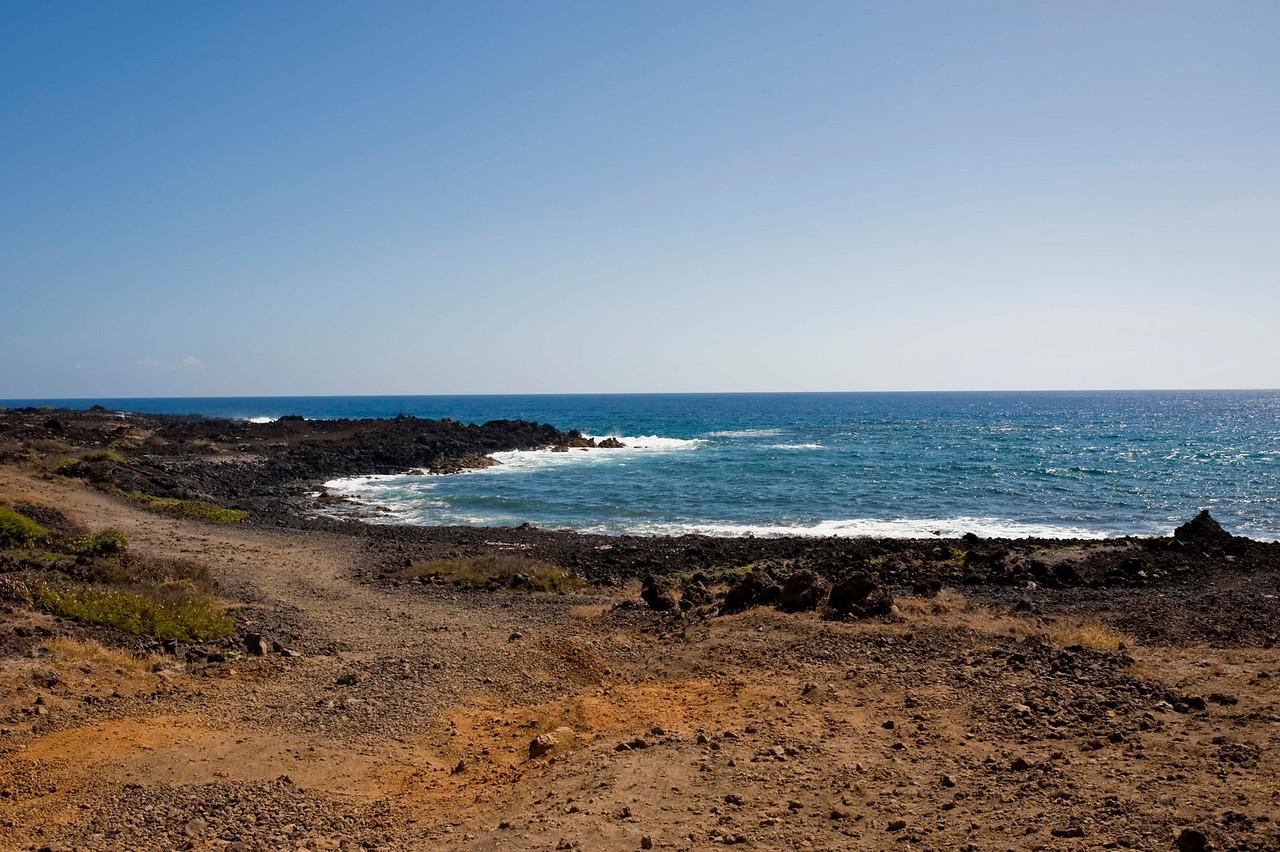 The rocky shore of Ka'Lae