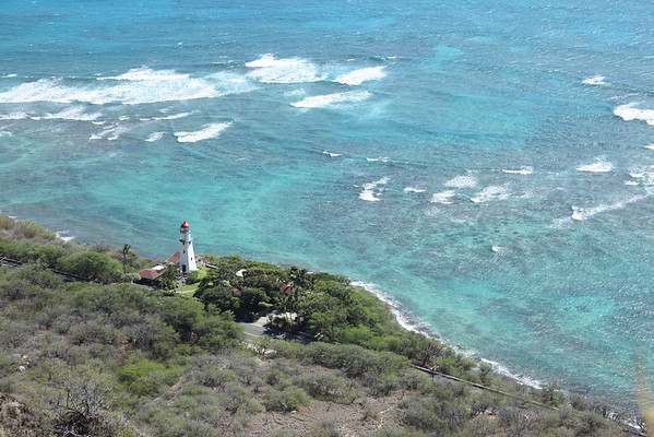 view from top of Diamond Head Crater in Honolulu