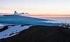 On top of Mauna  Kea overlooking Mauna Kea . Temp O'C.