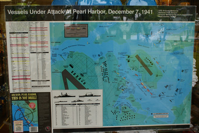 Peal Harbor layout the day it was attacked