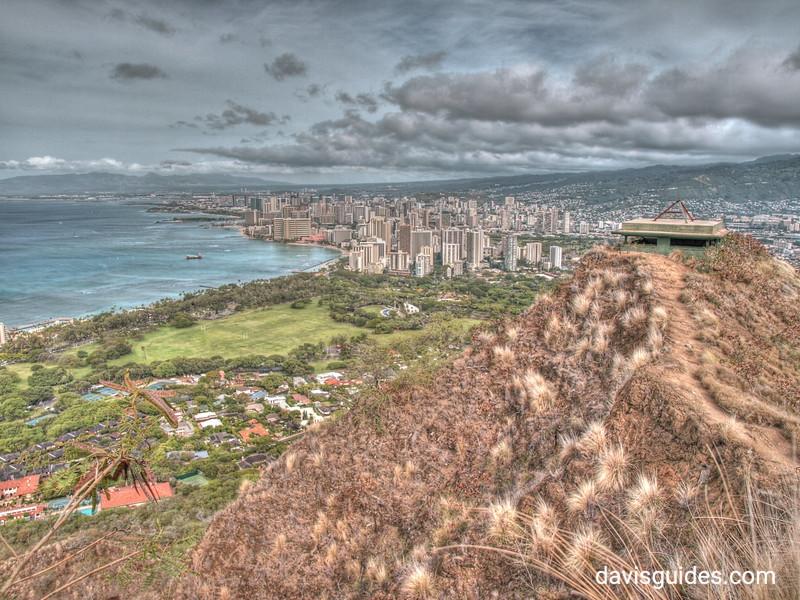 Honolulu from summit of Diamondhead