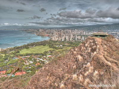 Honolulu from summit of Diamondhead